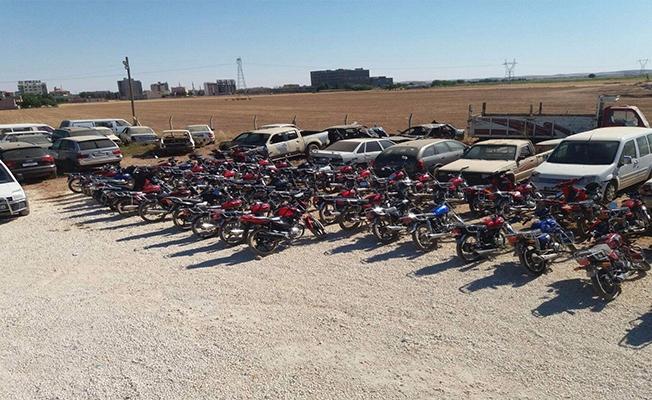 Şanlıurfa'da Yüzlerce Çalıntı Motosiklet Yakalandı