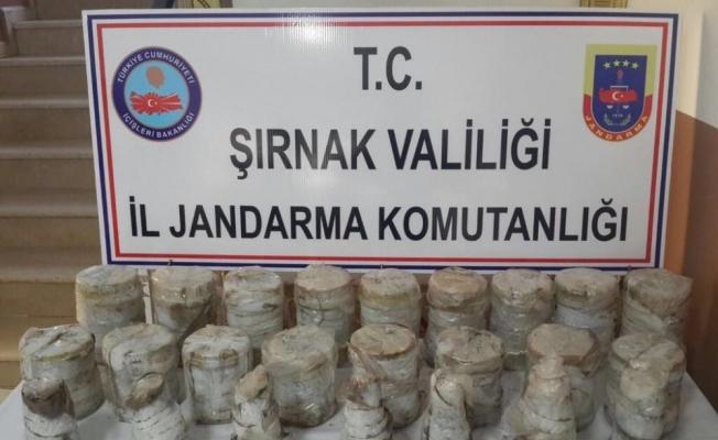 Şırnak'ta 24 el yapımı patlayıcı ele geçirildi