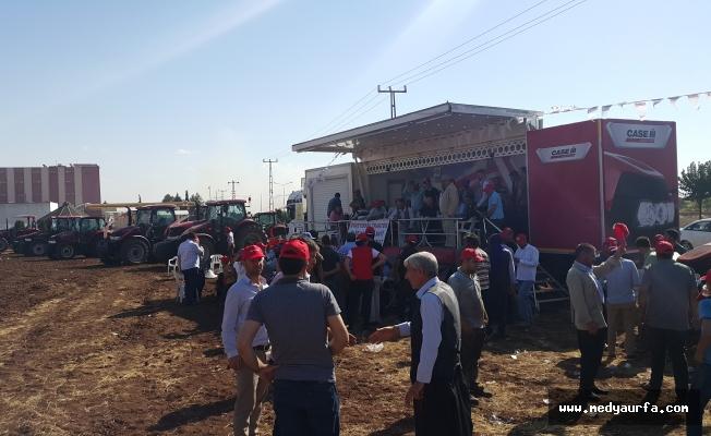 Urfalı Çiftçiler Tarla Tatbikatında Saha Deneyimi Yaşadı