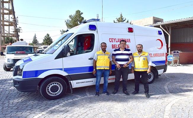 Ceylanpınar'da Belediyeden Ücretsiz Ambulans Hizmeti
