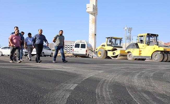 Karaköprü'de sıcak asfalt çalışması