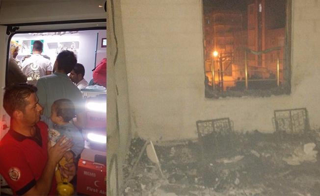 Suruç'ta yangında mahsur kalan çocuğu itfaiye kurtardı