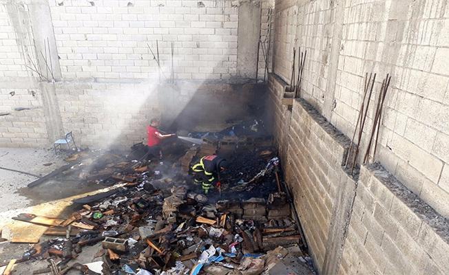 Urfa'da güvercinleri çalıp yangın çıkardılar