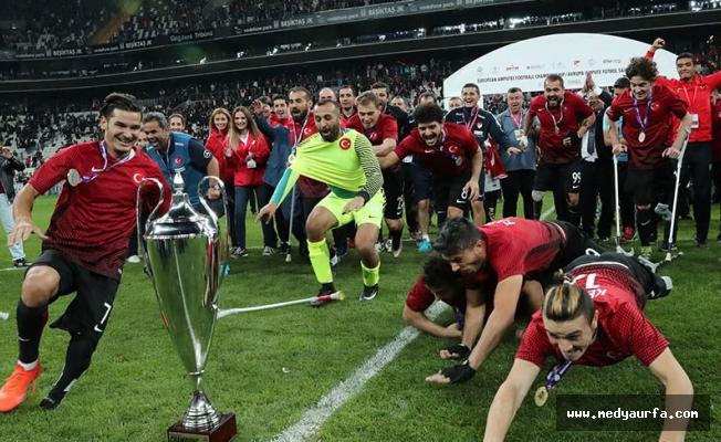 Spor camiasından Ampute Milli Futbol Takımı'na tebrik