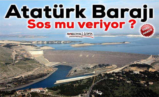 Atatürk Barajı'nda tehlike çanları çalıyor