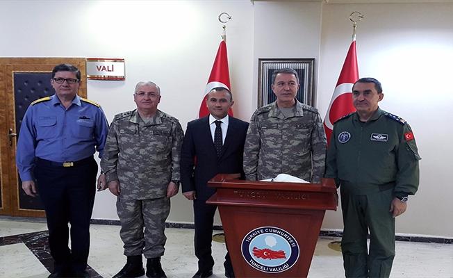 Genelkurmay Başkanı Akar, Vali Sonel'i ziyaret etti