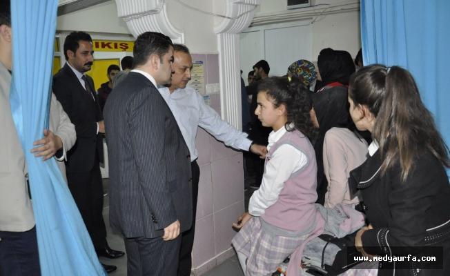 Kaymakam Karatepe yaralı vatandaşları ziyaret etti