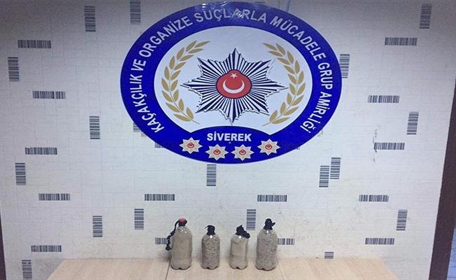 Siverek'te yakıt deposunda uyuşturucu sevkiyatı