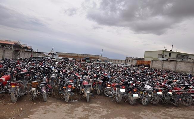 Birecik'te 245 motosiklet ele geçirildi
