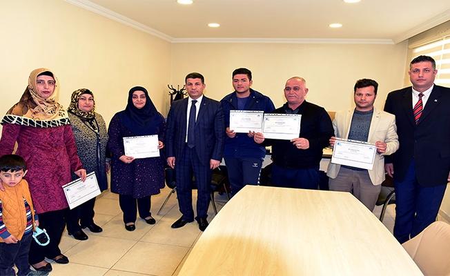 Ceylanpınar'da kursiyerlere KOSGEB Belgeleri verildi