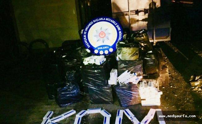 Mardin yolunda onbinlerce adet kaçak sigara yakalandı