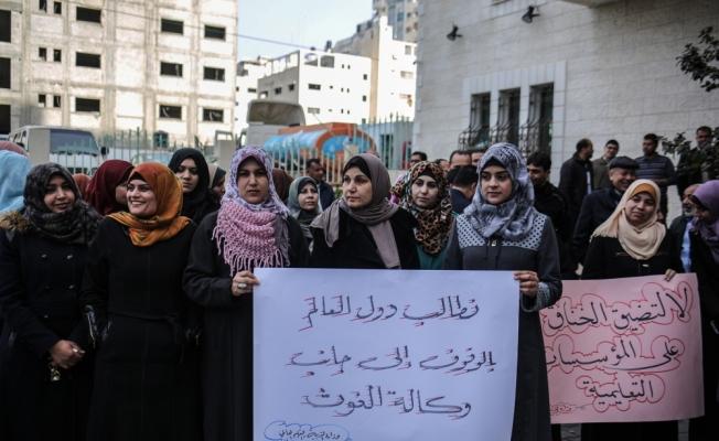 """""""ABD'nin kararları"""" Gazze'de protesto edildi"""