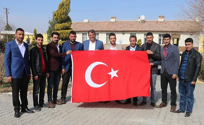 Akçakale'de Cumhurbaşkanı Erdoğan heyecanı