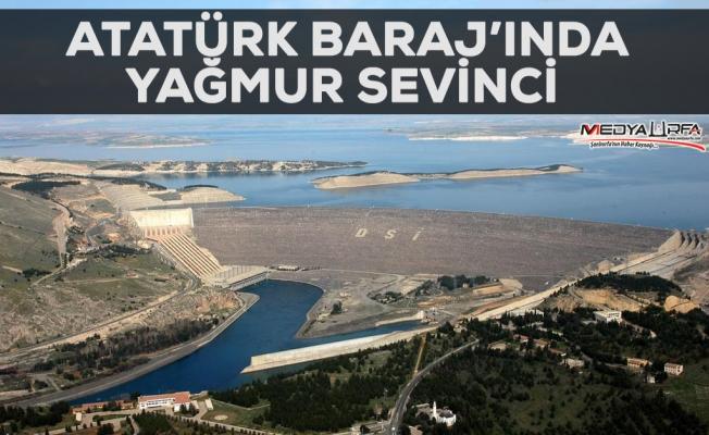 Atatürk Barajı'nda su seviyesi yükseliyor