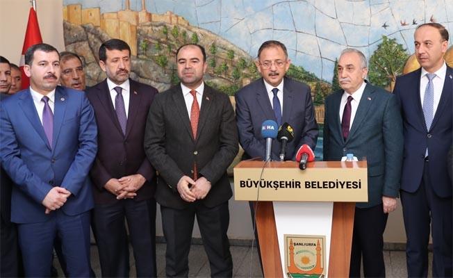 Bakan Özhaseki Büyükşehir Belediyesi'nde