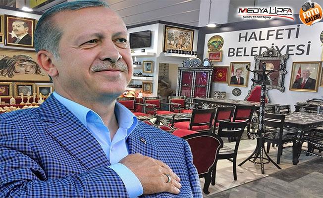 Erdoğan'ın makam odası takımı Halfeti'den
