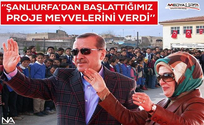 Erdoğan Şanlıurfa'yı örnek gösterdi