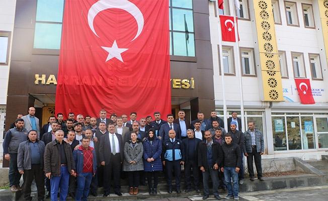 Harran'da çalışanlarından Afrin'e destek