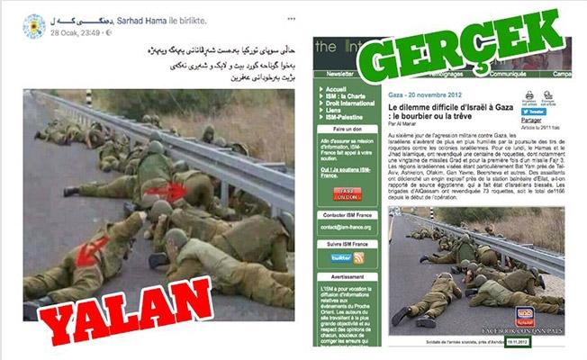 İsrail askerlerini Türk askeri gibi göstermeye çalıştılar