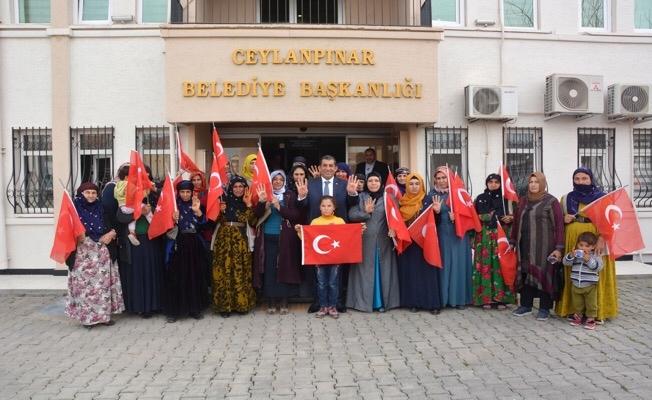 Kejanlı kadınlardan Zeytindalı Harekatına destek
