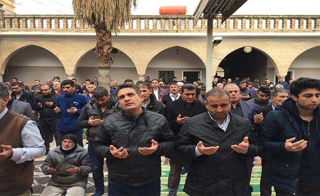 Urfa'da Cuma namazı sonrası yağmur duası