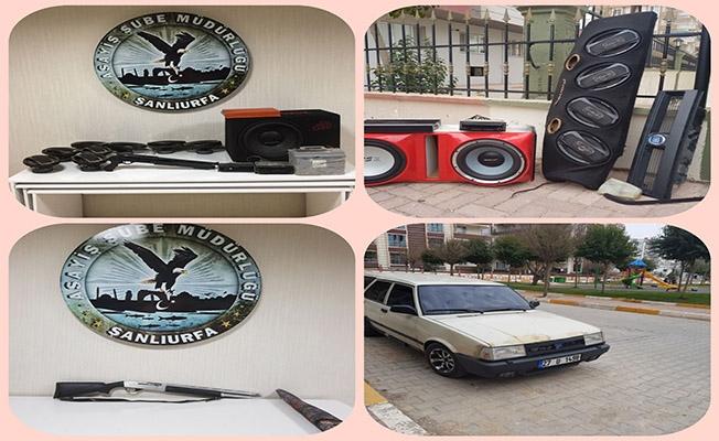 Urfa'da 7 otomobilden hırsızlık yapan şahıs yakalandı