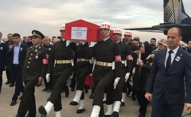 Urfalı şehidin cenazesi Şanlıurfa'ya getirildi