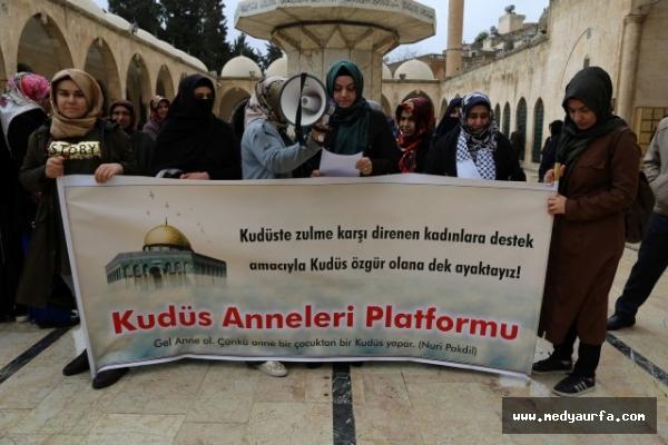 Urfalı kadınlardan Kudüs'teki zülme tepki