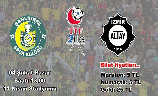 Urfaspor'un Altay maçı biletleri satışta