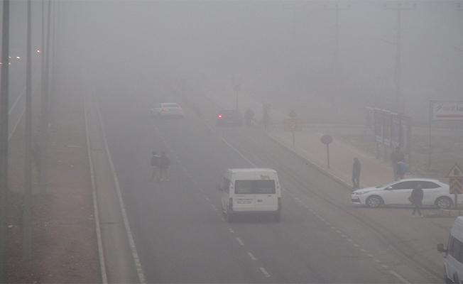 Viranşehir'de sis etkili oldu