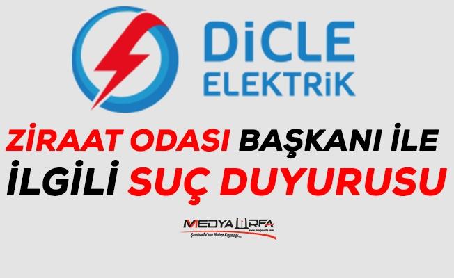 Dicle Elektrikten Ziraat Odasına cevap