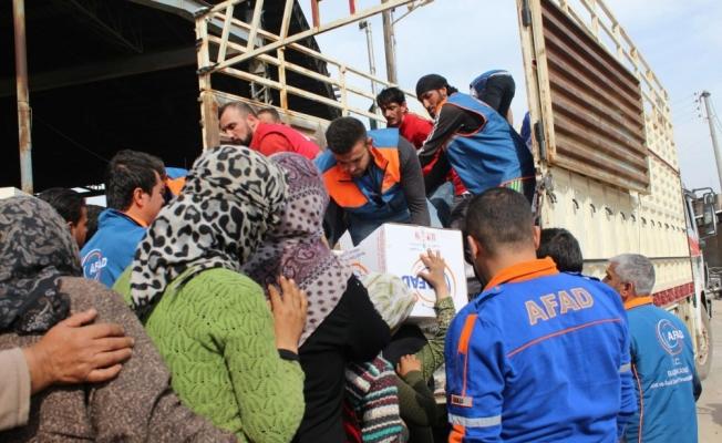 Suriye'de terörden arındırılan bölgelere insani yardım