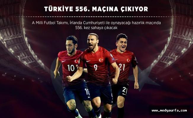 Türkiye 556. maçına çıkıyor