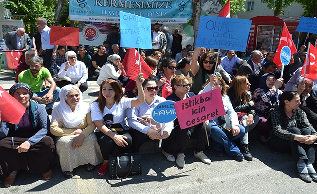 CHP'den Urfa'da 'OHAL' için oturma eylemi