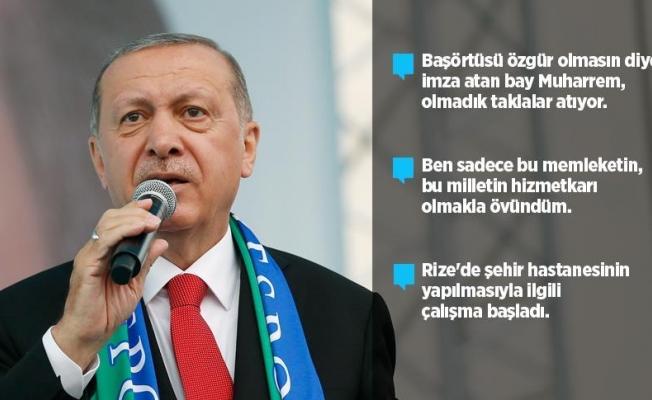 Erdoğan'dan İnce'ye 'Beyaz Türk' cevabı