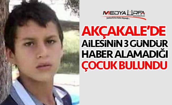 Akçakale'deki kayıp çocuk Urfa'da bulundu