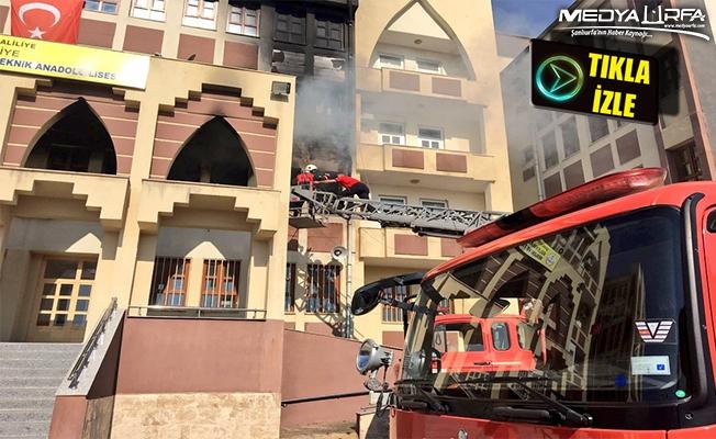 Süleymaniye'de okulda çıkan yangın ucuz atlatıldı!