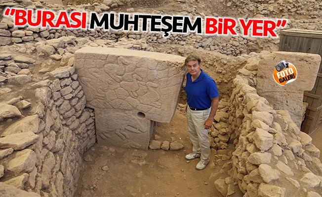Ünlü Türk cerrah Dr. Mehmet Öz Göbeklitepe'de
