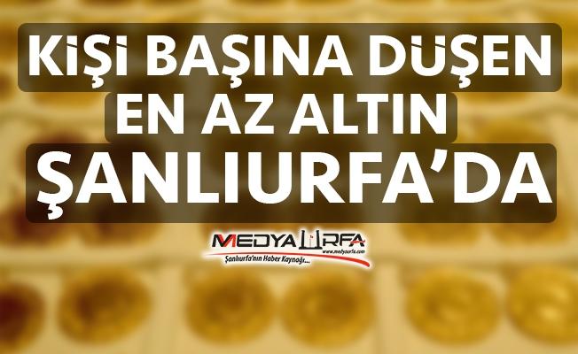 Altında en zengin il İstanbul, en fakir Şanlıurfa