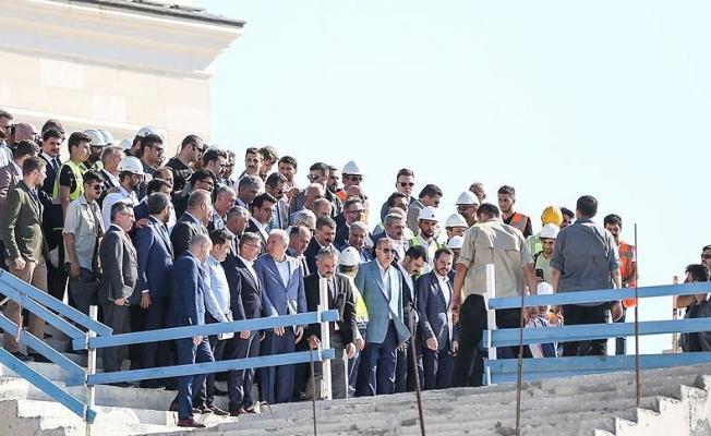 Erdoğan Çamlıca Camisi'nde incelemelerde bulundu