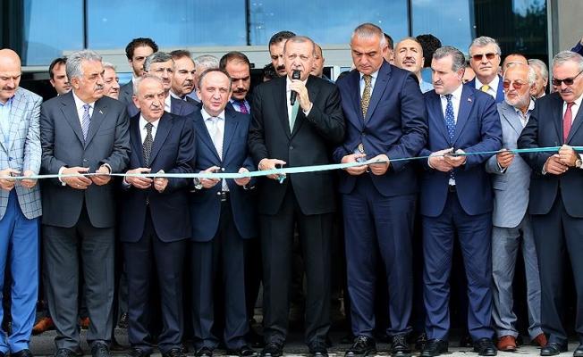 Erdoğan Rize'de otel açılışı yaptı