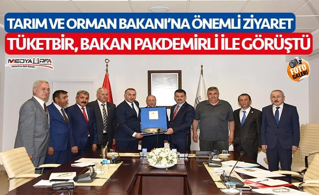 TÜKETBİR Başkanı Tunç, Bakan Pakdemirli ile görüştü