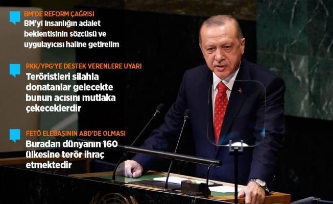 Erdoğan'dan BM Genel Kuruluna hitap etti