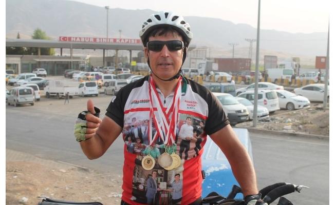 Kardeşlik için pedal bastı, Urfa'dan da geçti!