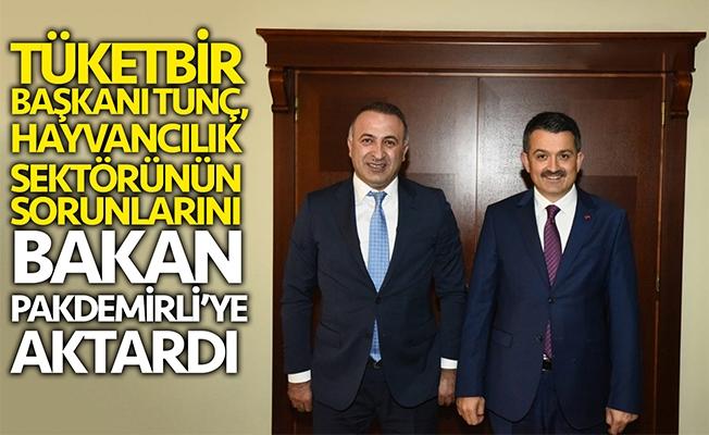 Bülent Tunç, Bakan Pakdemirli'ye hayvancıların  sorunlarını aktardı