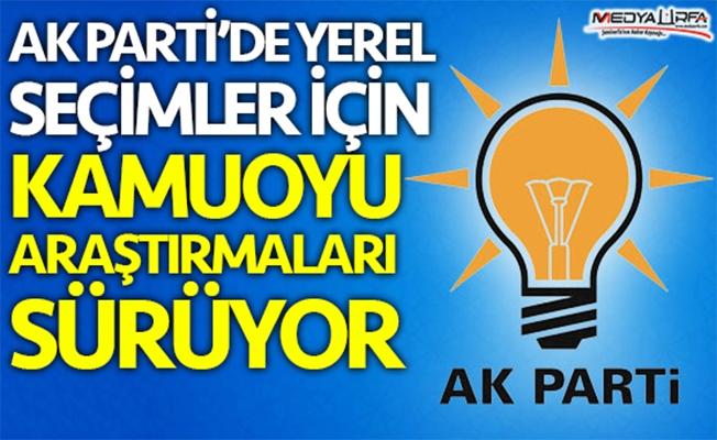 AK Parti'de kamuoyu araştırmaları sürüyor
