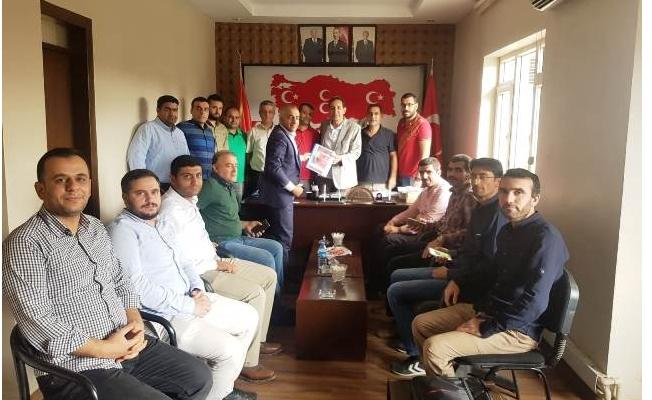 HBYS Personelleri, MHP Şanlıurfa İl Başkanını Ziyaret Ettiler