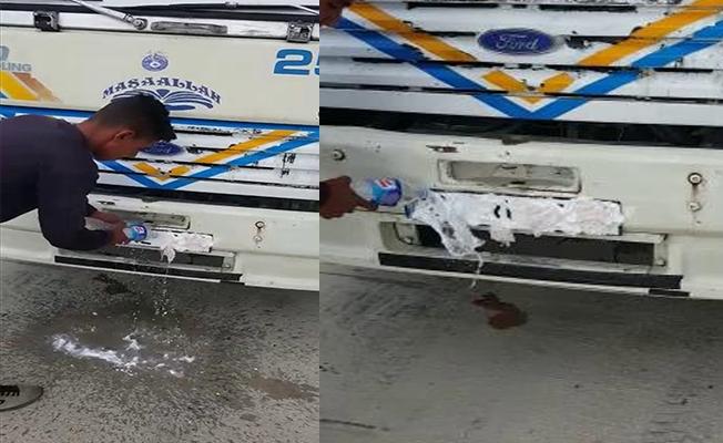 Plakayı Traş Köpüğüyle Kapatan Sürücü Yakalandı