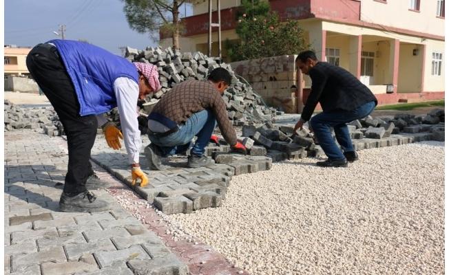 Akçakale'de Kilitli Beton Parke yol çalışmaları sürüyor