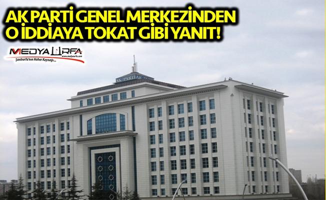 AK Parti'den Beyazgül iddiasına tokat gibi yanıt!